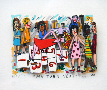 My Turn Next 3-D 1990 Limited Edition Print - James Rizzi