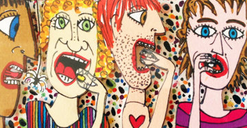 Jelly Bean 3-D Limited Edition Print - James Rizzi
