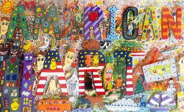 American Art 3-D 1977 Limited Edition Print - James Rizzi
