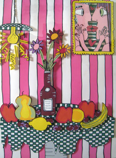 Passion Fruit Pink 3-D Limited Edition Print - James Rizzi