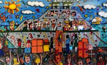 Bon Voyage 3-D 1989 Limited Edition Print - James Rizzi