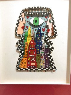Big Brother 3-D 1989 TV Show Limited Edition Print - James Rizzi