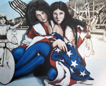 Star Spangled Ladies Limited Edition Print - Robert  Anderson