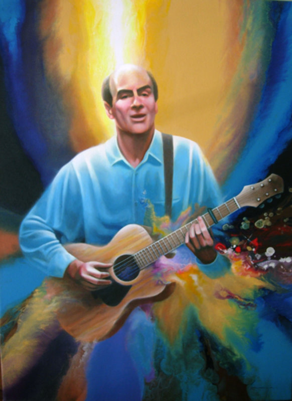Portrait of James Taylor 2002 41x30