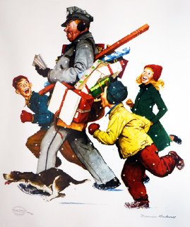 Jolly Postman 2005 Limited Edition Print - Norman Rockwell