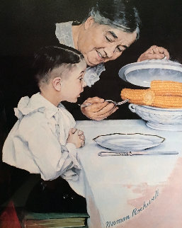 City Boy, Country Boy, Last Ear of Corn, Childhood Memories Suite of 4 Limited Edition Print - Norman Rockwell
