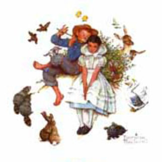 Spring, from Four Ages of Love Suite 1977 Limited Edition Print - Norman Rockwell