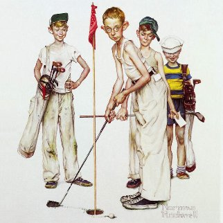 Four Sporting Boys: Golf 2012 Limited Edition Print - Norman Rockwell