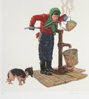 Winter Morning - Encore Edition 1977 Limited Edition Print - Norman Rockwell