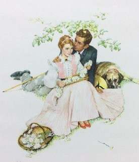 Tender Bloom AP 1955 Limited Edition Print - Norman Rockwell