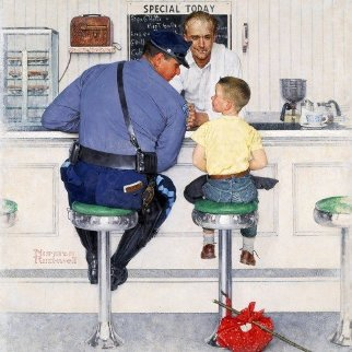 Runaway AP 1958 Limited Edition Print - Norman Rockwell