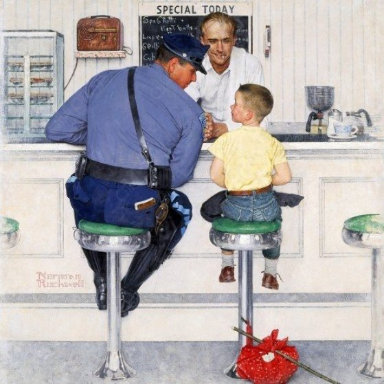 Runaway AP 1958 Limited Edition Print by Norman Rockwell
