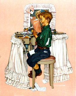 Secrets AP 1976 Limited Edition Print - Norman Rockwell