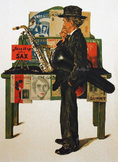 Jazz It Up AP 1979 Limited Edition Print - Norman Rockwell