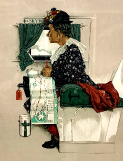 First Airplane Ride AP 1976 Limited Edition Print - Norman Rockwell