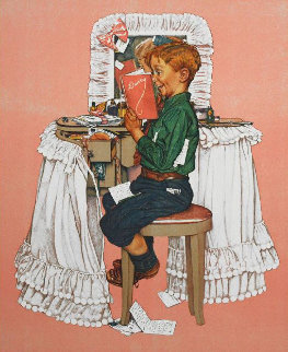 Secrets Limited Edition Print - Norman Rockwell