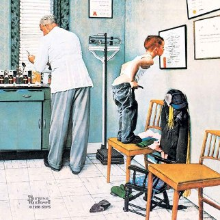 Before the Shot AP 1958 Limited Edition Print - Norman Rockwell