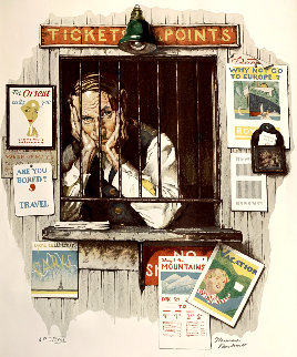 Ticket Seller AP 1976  Limited Edition Print - Norman Rockwell