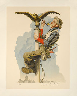 Gilding the Eagle Limited Edition Print - Norman Rockwell