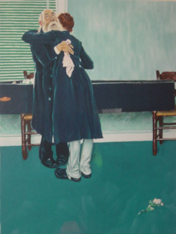 Stock Exchange 1977 By Norman Rockwell