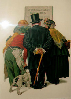 Stock Exchange 1977 Limited Edition Print - Norman Rockwell