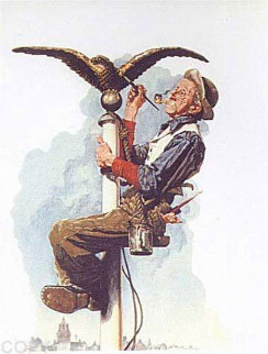 Guilding the Eagle 1976 Limited Edition Print - Norman Rockwell