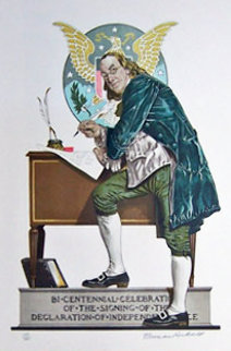 Ben Franklin 1976 Limited Edition Print - Norman Rockwell