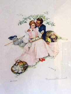 Flowers in Tender Bloom 1955 Limited Edition Print - Norman Rockwell