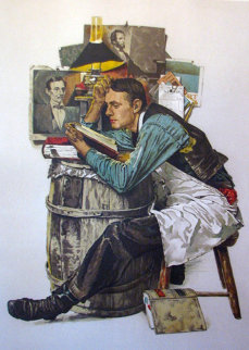 Law Student AP 1976 (Lincoln) Limited Edition Print - Norman Rockwell