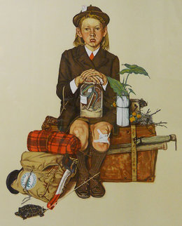 Home From Camp AP 1976 Limited Edition Print - Norman Rockwell