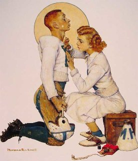 Football Hero Limited Edition Print - Norman Rockwell