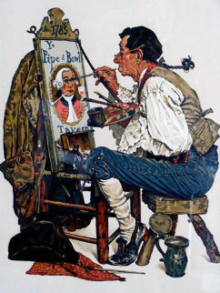 Ye Pipe N Bowl 1976 Limited Edition Print - Norman Rockwell