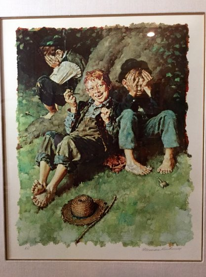 Smoking Ap 1977 By Norman Rockwell