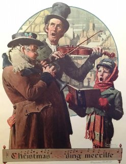 Christmas Carol AP Limited Edition Print - Norman Rockwell