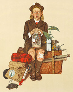 Back From Camp 1976 Limited Edition Print - Norman Rockwell