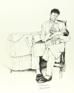 Two O'clock Feeding Limited Edition Print - Norman Rockwell