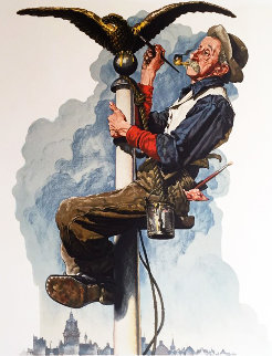 Gilding the Eagle 1970 Limited Edition Print by Norman Rockwell