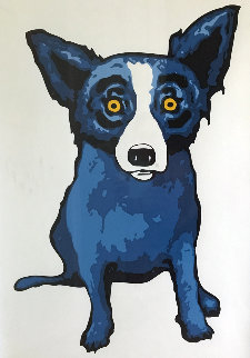 Second Line - White AP 1994 Limited Edition Print - Blue Dog George Rodrigue