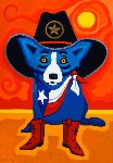 Take Me Back to Texas  2015 Limited Edition Print - Blue Dog George Rodrigue