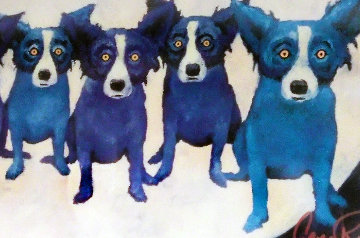 Home on the Moon AP 1991 Limited Edition Print - Blue Dog George Rodrigue