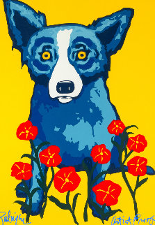 Spring is Here  AP 1996  Limited Edition Print - Blue Dog George Rodrigue