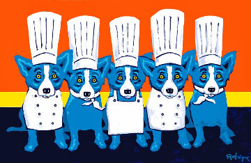 Heat in the Kitchen Limited Edition Print - Blue Dog George Rodrigue