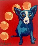 Many Moons 1996 Limited Edition Print - Blue Dog George Rodrigue