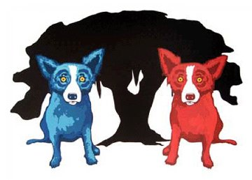 My Bad Brother  1997 Limited Edition Print - Blue Dog George Rodrigue