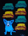 Junkyard Dog 2010 Limited Edition Print - Blue Dog George Rodrigue