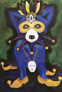 They All Ask For You 2004 Limited Edition Print - Blue Dog George Rodrigue