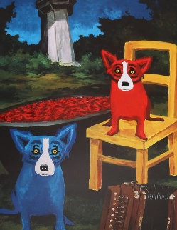 Boiling My Blues Away Poster 1998  Other - Blue Dog George Rodrigue