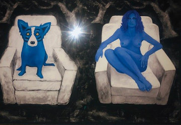 Ice Cold 2004 Limited Edition Print - Blue Dog George Rodrigue