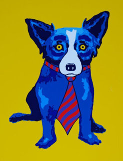 Lunch At the Club 1996 Limited Edition Print - Blue Dog George Rodrigue