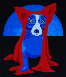 Hiding From the Moon 1995  - Blue Dog George Rodrigue
